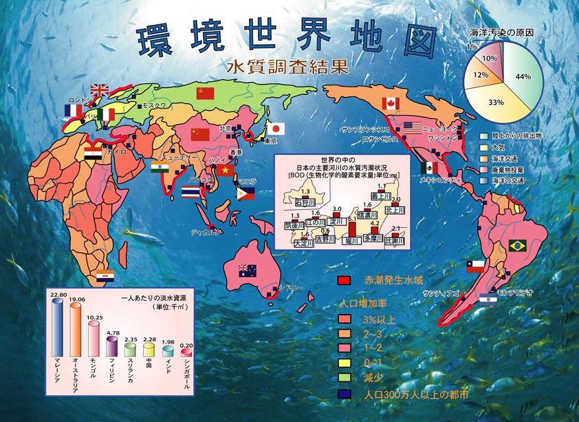 環境世界地図「水質汚染」